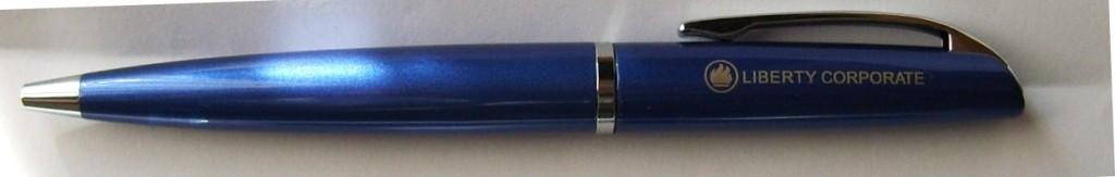 metal-pen-brass-barrel-libery-corporate-logo