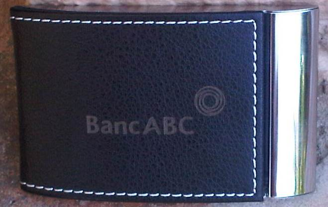 Business card holders laser engraving and laser marking specialist business card holder immitation leather banc abc logo reheart Choice Image