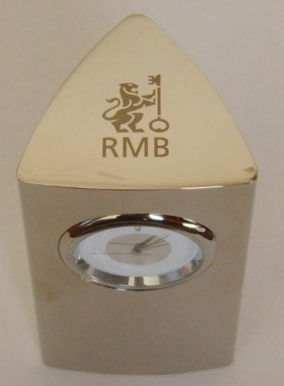 desk-clock-stainless-steel-rmb-logo